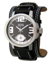 EOS New York Men's 12SYEL Headway Leather Watch, black