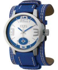 EOS New York Men's 12SYEL Headway Leather Watch, blue