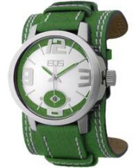 EOS New York Men's 12SYEL Headway Leather Watch, green