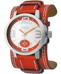 EOS New York Men's 12SYEL Headway Leather Watch, red