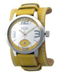 EOS New York Men's 12SYEL Headway Leather Watch, yellow