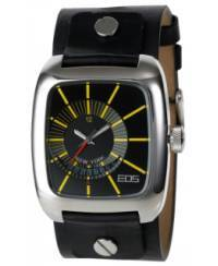 Klockor - Modeklocka från EOS New York Men's 228SBLK Zephyrized Leather Strap Watch, Black