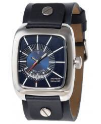 Klockor - Modeklocka från EOS New York Men's 228SWBLU Zephyrized Leather Strap Watch, Blue