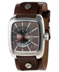 Klockor - Modeklocka från EOS New York Men's 228SBRN Zephyrized Leather Strap Watch, Brown