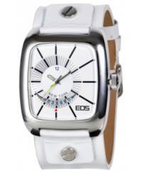 Klockor - Modeklocka från EOS New York Men's 228SWHT Zephyrized Leather Strap Watch, White
