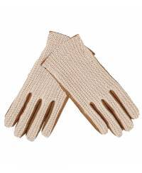 1004 Women`s Knitted Leather Gloves, cognac