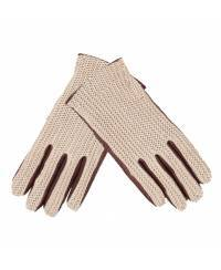 1004 Women`s Knitted Leather Gloves, dk brown