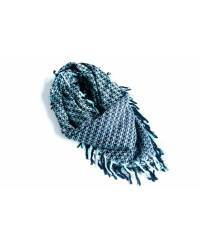 Mode - BrianneFaye Scarf Weave It Triangle- 1990′s Blue/Black