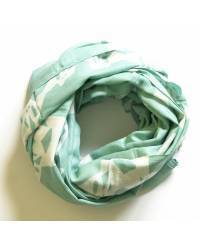 Mode - BrianneFaye Scarf Kisses with snakes, Cool-mint