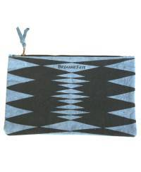 Mode - BrianneFaye Clutch Bag zigzag, Blue
