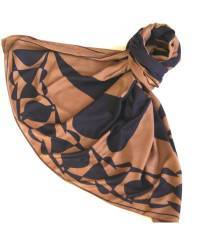 Mode - BrianneFaye 2013 ARTWORK SCARF- COCOA