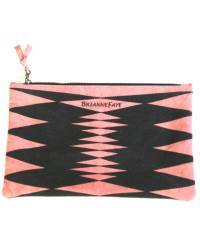 Mode - BrianneFaye Clutch Bag zigzag, Pink