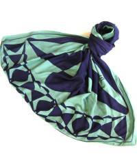 Mode - BrianneFaye 2013 ARTWORK SCARF- MINT/ NAVY